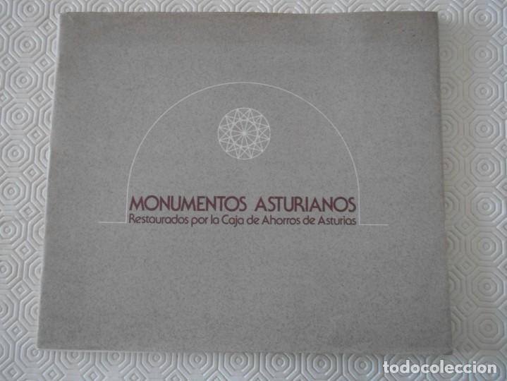 MONUMENTOS ASTURIANOS RESTAURADOS POR LA CAJA DE AHORROS DE ASTURIAS. AÑO 1978. RUSTICA CON SOLAPA. (Libros de Segunda Mano - Bellas artes, ocio y coleccionismo - Arquitectura)