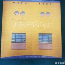 Libros de segunda mano: ARQUITECTURA Y UNIVERSIDAD PARA LA CIUDAD (D. PERIS, M.A. BLANCO, UNIV. CASTILLA-LA MANCHA, 2003). Lote 140097050
