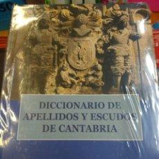 Libros de segunda mano: DICCIONARIO DE APELLIDOS Y ESCUDOS DE CANTABRIA GONZALEZ ECHEGARAY - GARCIA PEDROSA - ESTUDIO. Lote 140143702