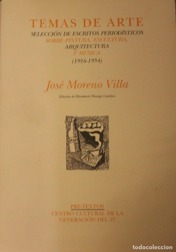 TEMAS DE ARTE SELECCIÓN DE ESCRITOS PERIODÍSTICOS, SOBRE PINTURA, ESCULTURA, ARQUITECTURA Y MUSICA (Libros de Segunda Mano - Bellas artes, ocio y coleccionismo - Arquitectura)