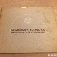 Libros de segunda mano: MONUMENTOS ASTURIANOS, RESTAURADOS POR LA CAJA DE AHORROS DE ASTURIAS. 1978. Lote 140535158