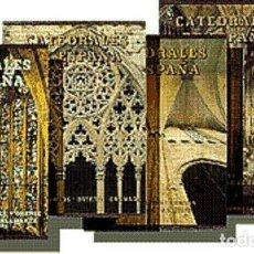 Libros de segunda mano: ENCICLOPEDIA DE CATEDRALES DE ESPAÑA EN CINCO TOMOS ED EVEREST - NUEVOS PLASTIFICADOS A ESTRENAR. Lote 140560674