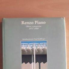 Libros de segunda mano: RENZO PIANO OBRAS Y PROYECTOS. Lote 141312970
