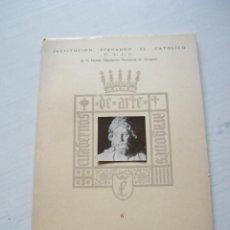 Libros de segunda mano: LA VILLA DE MONTERDE Y SUS RETABLOS - FEDERICO TORRALBA - INST. FERNANDO EL CATÓLICO (1953). Lote 143172810