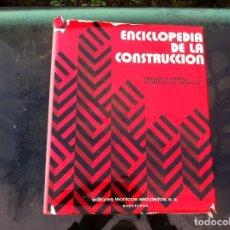 Libros de segunda mano: ENCICLOPEDIA DE LA CONSTRUCCIÓN. CÁLCULOS Y ENSAYOS. ESTUDIO DE LOS PROYECTOS/ 1. EDITORES TÉCNICOS.. Lote 143175670