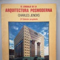 Libros de segunda mano: ARQUITECTURA POSMODERNA - CHARLES JENKS -. Lote 144460533