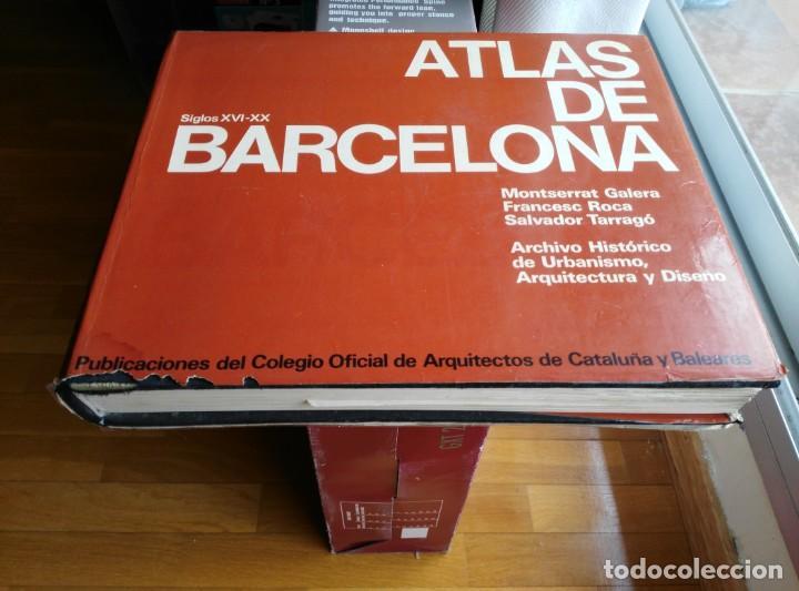 ATLAS DE BARCELONA S.XVI-XX. 1972 CON MUCHOS MAPAS (Libros de Segunda Mano - Bellas artes, ocio y coleccionismo - Arquitectura)