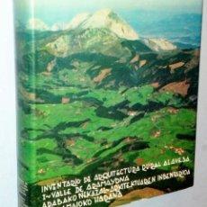 Libros de segunda mano: INVENTARIO DE ARQUITECTURA RURAL ALAVESA. I.- VALLE DE ARAMAYONA. Lote 146599446