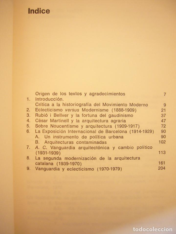 Libros de segunda mano: IGNASI DE SOLÀ-MORALES: ECLECTICISMO Y VANGUARDIA (GUSTAVO GILI, 1980) MUY BUEN ESTADO. RARO. - Foto 5 - 147201354