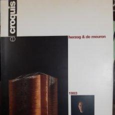 Libros de segunda mano: CROQUIS N 60 HERZOG Y MEURON. Lote 148704801
