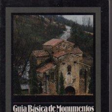 Libros de segunda mano: GUÍA BÁSICA DE MONUMENTOS ASTURIANOS. Lote 150082210