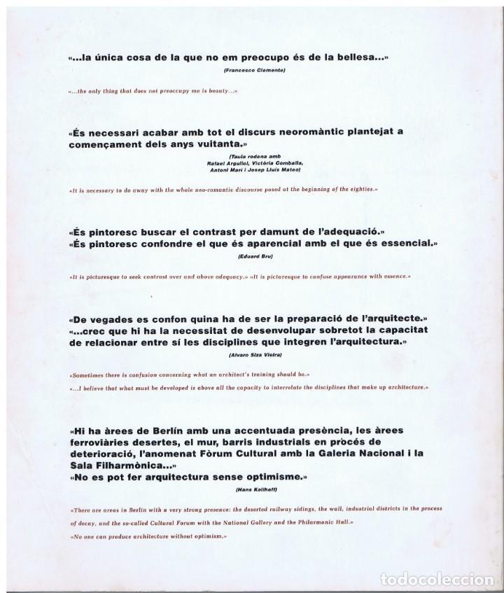 Libros de segunda mano: QUADERNS D'ARQUITECTURA I URBANISME- Nº 176 - VEUS CREUADES - INTERSECTING VOICES - Foto 2 - 150825634