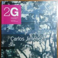 Libros de segunda mano: REVISTA 2G N.13, 2000/I. CARLOS JIMÉNEZ. - ARQUITECTURA DESCATALOGADA. Lote 152118714