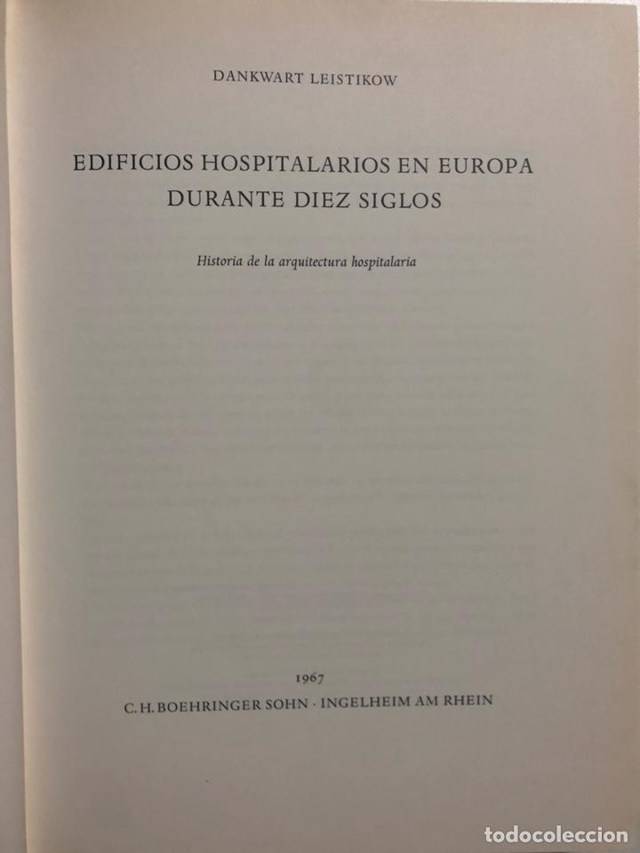Libros de segunda mano: Edificios hospitalarios en Europa durante diez siglos. Historia de la arquitectura hospitalaria. - Foto 2 - 153731114