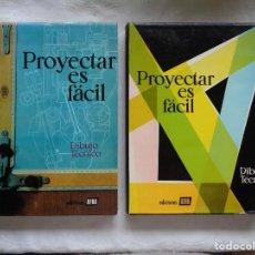 Libros de segunda mano: PROYECTAR ES FÁCIL DIBUJO TÉCNICO. TOMOS I Y II. 1963.. Lote 154644118