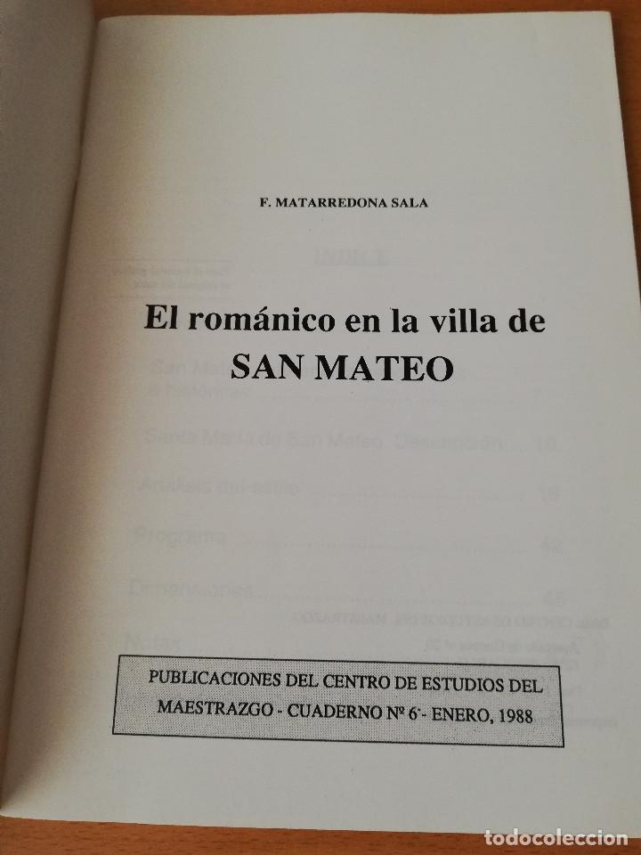 Libros de segunda mano: EL ROMÁNICO EN LA VILLA DE SAN MATEO (F. MATARREDONA SALA) - Foto 2 - 154649402