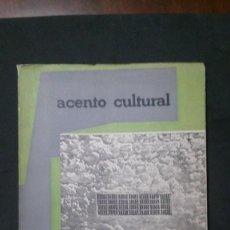Libros de segunda mano: ACENTO CULTURAL Nº 14-1961-ARQUITECTURA-COMENCINI-INGMAR BERGMAN-GRUPO SEVILLA. Lote 155878438