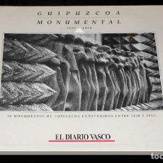 Libros de segunda mano: GUIPUZCOA MONUMENTAL. 1850-1950. 50 MONUMENTOS. COLECCION COMPLETA EN SU CARPETA. PAIS VASCO.. Lote 158142898