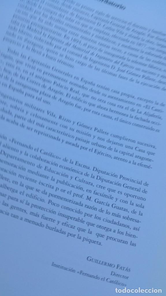 Libros de segunda mano: EL NUEVO PALACIO DE LA CAPITANIA GENERAL DE ARAGON/ J GOMEZ Y PALETE/ VER DEDICATORIA/ G10 - Foto 7 - 158157322