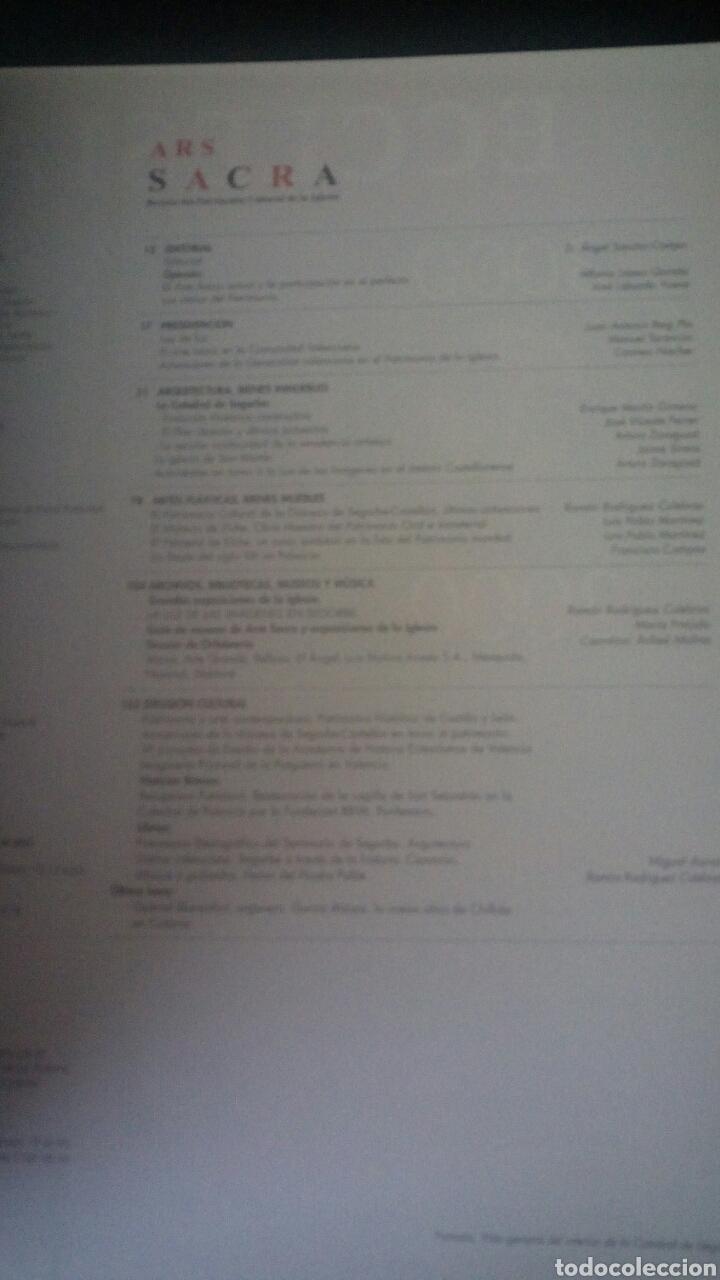 Libros de segunda mano: CTC - ARS SACRA - Número 20 AÑO 2001 - REVISTA DE PATRIMONIO CULTURAL DE LA IGLESIA - Nº20 - Foto 6 - 158761166