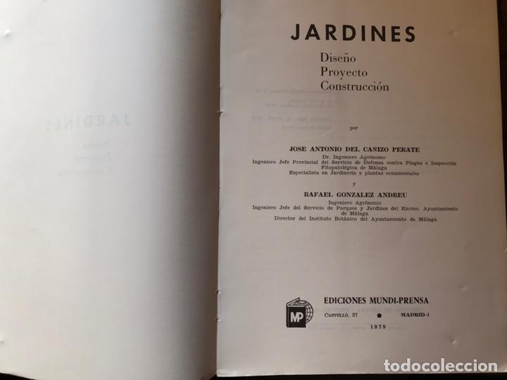 Libros de segunda mano: Jardines. Diseño. Proyecto. Plantación. José Antonio del cañizo - Foto 3 - 180250122