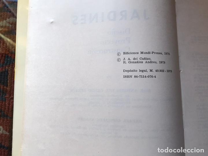 Libros de segunda mano: Jardines. Diseño. Proyecto. Plantación. José Antonio del cañizo - Foto 4 - 180250122