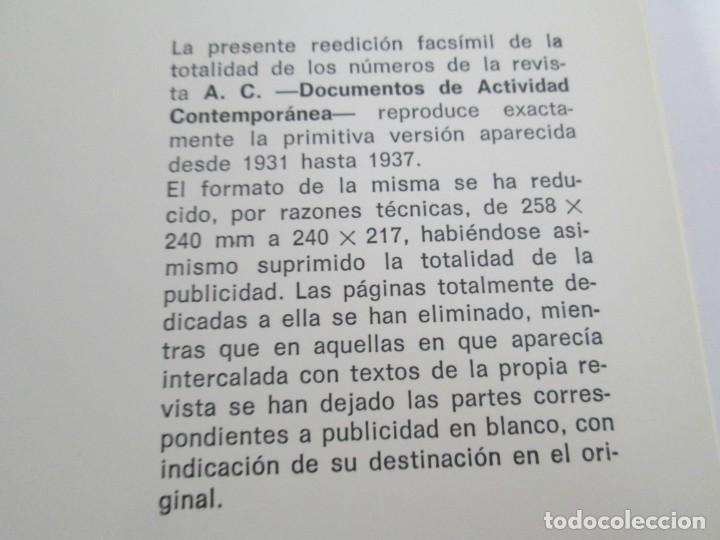 Libros de segunda mano: REVISTA A.C/ G.A.T.E.P.A.C. 1931-1937. ARQUITECTURA. DOCUMENTOS DE ACTIVIDAD CONTEMPORANEA. - Foto 7 - 161584398