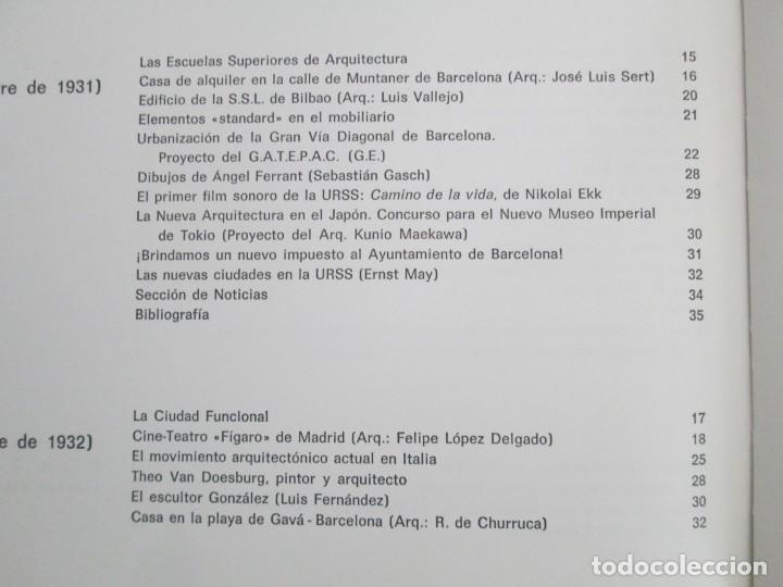 Libros de segunda mano: REVISTA A.C/ G.A.T.E.P.A.C. 1931-1937. ARQUITECTURA. DOCUMENTOS DE ACTIVIDAD CONTEMPORANEA. - Foto 19 - 161584398