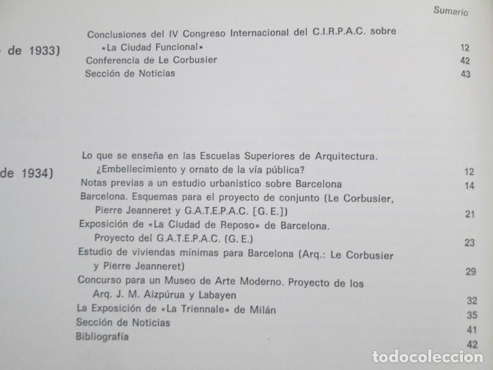 Libros de segunda mano: REVISTA A.C/ G.A.T.E.P.A.C. 1931-1937. ARQUITECTURA. DOCUMENTOS DE ACTIVIDAD CONTEMPORANEA. - Foto 26 - 161584398