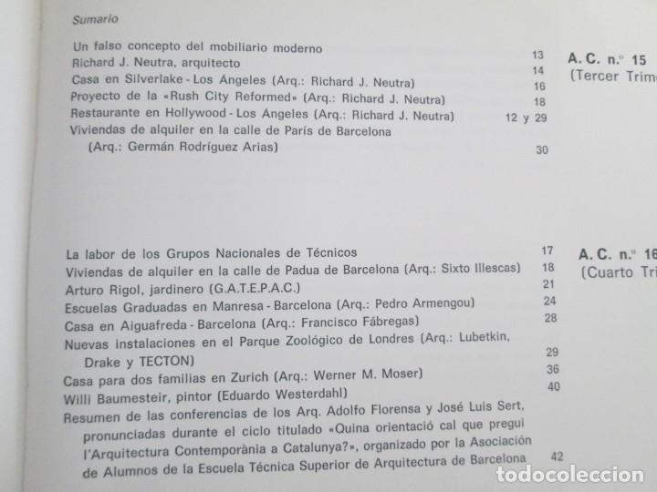 Libros de segunda mano: REVISTA A.C/ G.A.T.E.P.A.C. 1931-1937. ARQUITECTURA. DOCUMENTOS DE ACTIVIDAD CONTEMPORANEA. - Foto 28 - 161584398