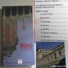 Libros de segunda mano: BILBAO GUÍA DE ARQUITECTURA - LIBRO TEXTO EN ESPAÑOL Y VASCO EDIFICIOS CIUDAD PAÍS VASCO ESPAÑA ARTE. Lote 161636082