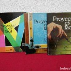 Libros de segunda mano: PROYECTAR ES FÁCIL. DIBUJO TÉCNICO. TRES TOMOS. EDICIONES AFHA. AÑO 1967. Lote 162684002