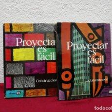Libros de segunda mano: PROYECTAR ES FÁCIL. CONSTRUCCIÓN. DOS TOMOS. EDICIONES AFHA. . Lote 162684298