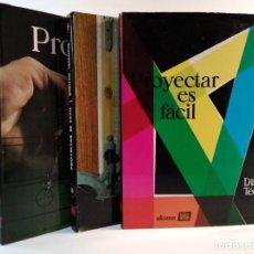 Libros de segunda mano: PROYECTAR ES FÁCIL. DIBUJO TÉCNICO. 3 VOLS. COMPLETO. . Lote 163174350
