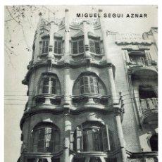 Libros de segunda mano: LA ARQUITECTURA MODERNISTA EN BALEARES, POR MIGUEL SEGUÍ AZNAR. AÑO 1975. (MENORCA.3.3). Lote 163437078