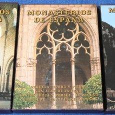 Libros de segunda mano: MONASTERIOS DE ESPAÑA - 2ª Y 3ª EDICION - CASTAÑO FELIX - EVEREST (1989/1990/1992). Lote 165049994