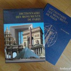Libros de segunda mano: DICTIONNAIRE DES MONUMENTS DE PARIS. HERVAS. 917 PAG. 1992. EN FRANCES. DEBIBL. Lote 167240944