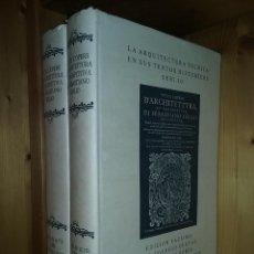 Libros de segunda mano: SERLIO, LA ARQUITECTURA TECNICA EN SUS TEXTOS HISTORICOS TODAS LAS OBRAS DE ARQUITECTURA PERSPECTIVA. Lote 167834468
