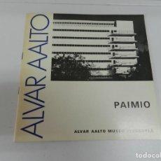 Libros de segunda mano: ALVAR AALTO PAIMIO 1929 1933 1ª EDICIÓN 1976. LIBRO ARQUITECTURA EN INGLÉS Y FINÉS. Lote 170506032