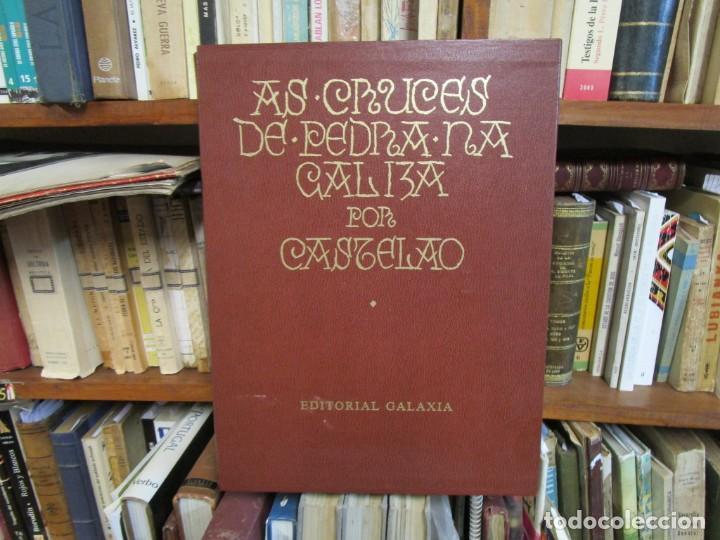 Libros de segunda mano: GALICIA: AS CRUCES DE PEDRA NA GALIZA POR CASTELAO - GALAXIA 1984, EDI NUMERADA 301/500 + INFO 1S - Foto 2 - 171149862