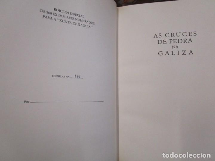 Libros de segunda mano: GALICIA: AS CRUCES DE PEDRA NA GALIZA POR CASTELAO - GALAXIA 1984, EDI NUMERADA 301/500 + INFO 1S - Foto 3 - 171149862