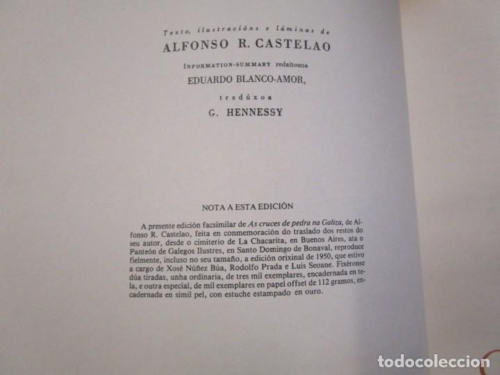 Libros de segunda mano: GALICIA: AS CRUCES DE PEDRA NA GALIZA POR CASTELAO - GALAXIA 1984, EDI NUMERADA 301/500 + INFO 1S - Foto 5 - 171149862