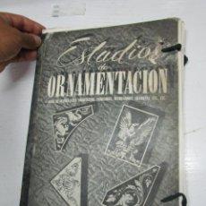 Libros de segunda mano: ESTUDIO DE ORNAMENTACION PARA ARQUITECTOS, ESCULTORES, DECORADORES GIMENEZ VALENCIA AÑOS 50. Lote 171246634