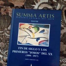 Libros de segunda mano: SUMMA ARTIS XXXVIII (38). FIN DE SIGLO Y LOS PRIMEROS ISMOS DEL S.XX 1890-1917. EXCELENTE ESTADO.. Lote 171247539