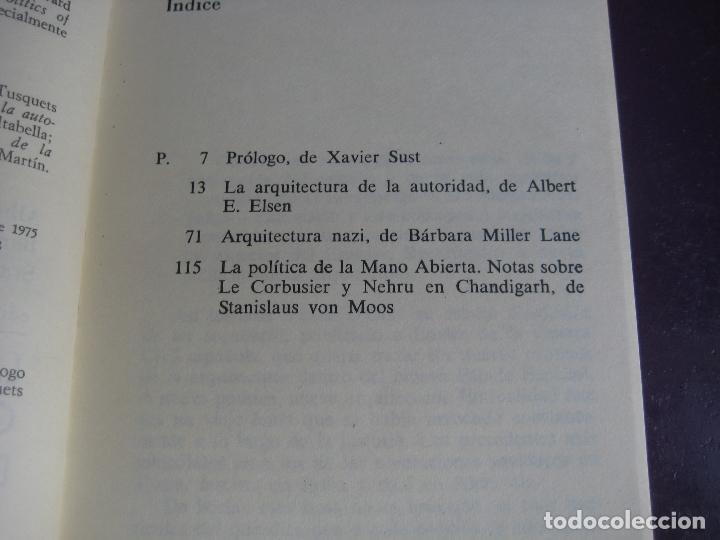 Libros de segunda mano: LA ARQUITECTURA COMO SIMBOLO DE PODER - TUSQUETS INFIMOS 2ª EDICION 1978 - LE CORBUSIER - Foto 2 - 171273715