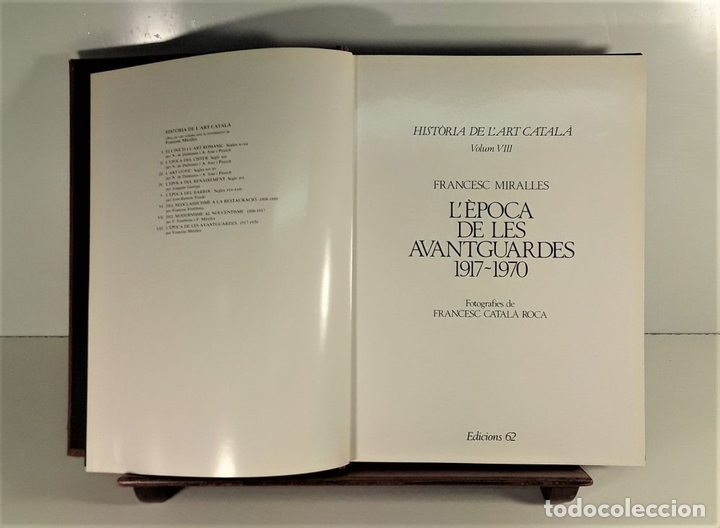 Libros de segunda mano: HISTÒRIA DE LART CATALÀ. 8 TOMOS. EDICIONS 62. BARCELONA. 1983/86. - Foto 7 - 171494475