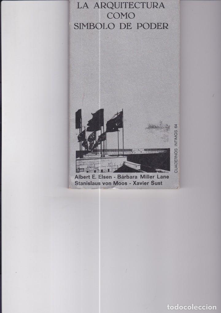 LA ARQUITECTURA COMO SÍMBOLO DEL PODER. VARIOS AUTORES (Libros de Segunda Mano - Bellas artes, ocio y coleccionismo - Arquitectura)