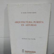 Libros de segunda mano: ARQUITECTURA PURISTA EN ASTURIAS. Lote 175397175