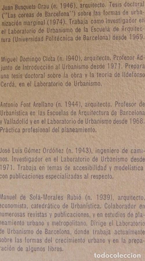 Libros de segunda mano: BARCELONA REMODELACIÓN CAPITALISTA O DESARROLLO URBANO EN EL SECTOR DE LA RIBERA OR. LIBRO URBANISMO - Foto 3 - 176555110