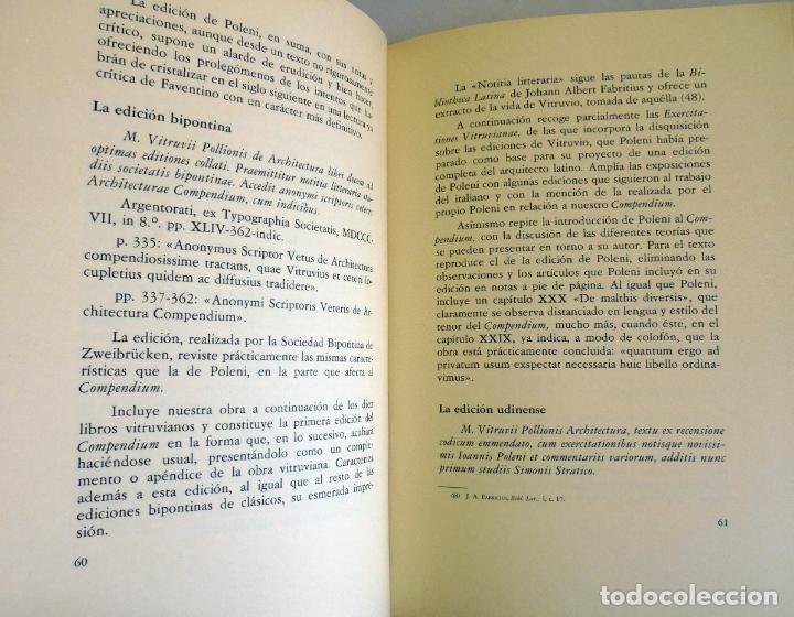 Libros de segunda mano: La arquitectura técnica en sus textos Históricos -Faventino - Edición facsímil numerada - - Foto 5 - 176577887